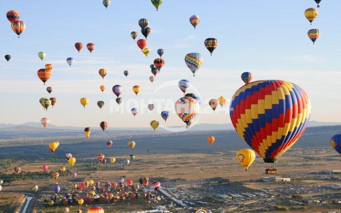 Топловъздушни балони на летището в село Ерден