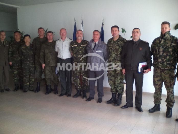 Военни аташета на посещение в Монтана