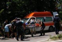 Кола помете пешеходец в Долно Церовене