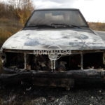 Москвич се запали в движение и изгоря