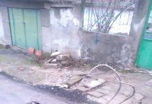 """Дупка в Лом на улица """"Каблешков"""""""