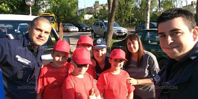Малки полицаи от Берковица заеха 5-то място в Национално състезание