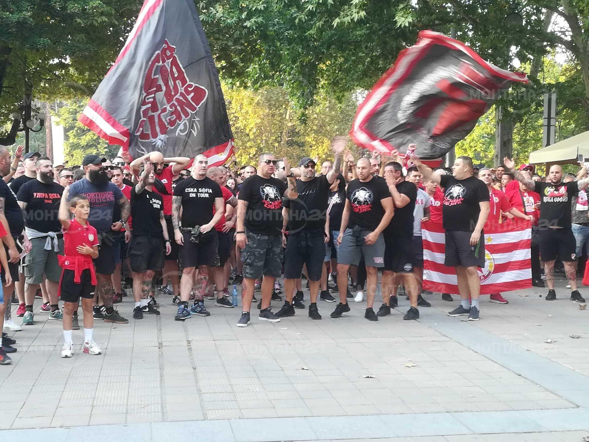 Улиците на Монтана почереняха от фенове на ЦСКА
