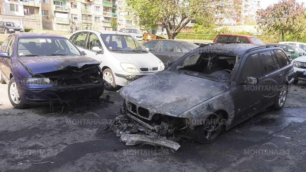 Запалиха БМВ, още две коли горяха покрай него