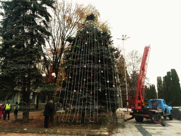 Коледната елха в Монтана грейва с песни и танци