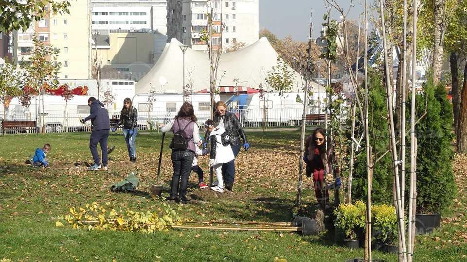 """Нови 64 дървета засадиха доброволци в парк """"Възраждане"""" в София"""