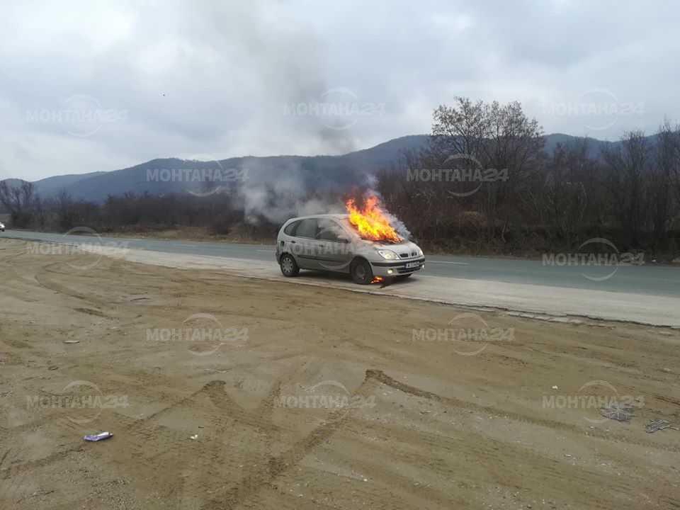 Монтанска кола изгоря край Новачене