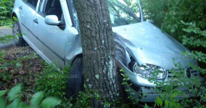 Пишман крадец! Отмъкна кола и се блъсна в дърво