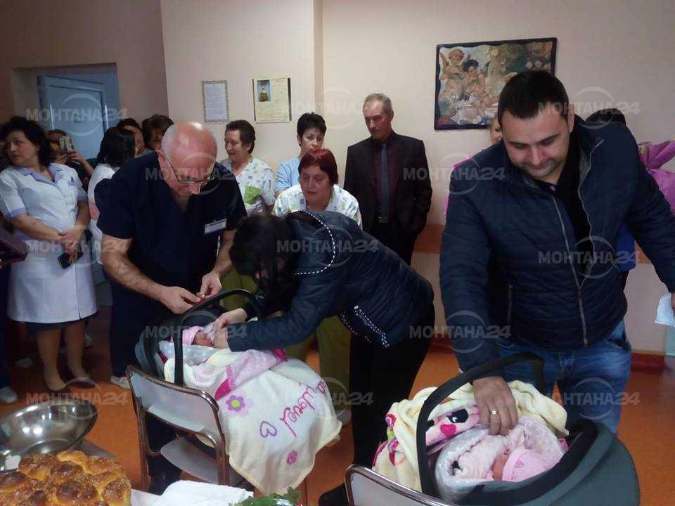 Близнаци специални гости на Бабинден в монтанската болница