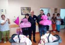 Близнаци бяха специални гости на Бабинден в монтанската болница