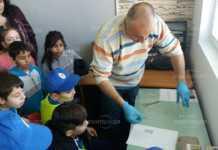 Малки полицаи се учиха как да вземат отпечатъци
