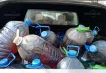 Половин тон дизел в бутилки иззеха полицаите