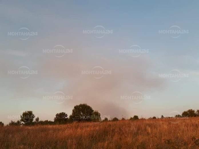 Голям пожар на Пъстина между селата Стубел и Липен