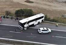 """Осем души остават в болница след вчерашната катастрофа с автобус на """"Монтана АТ"""""""