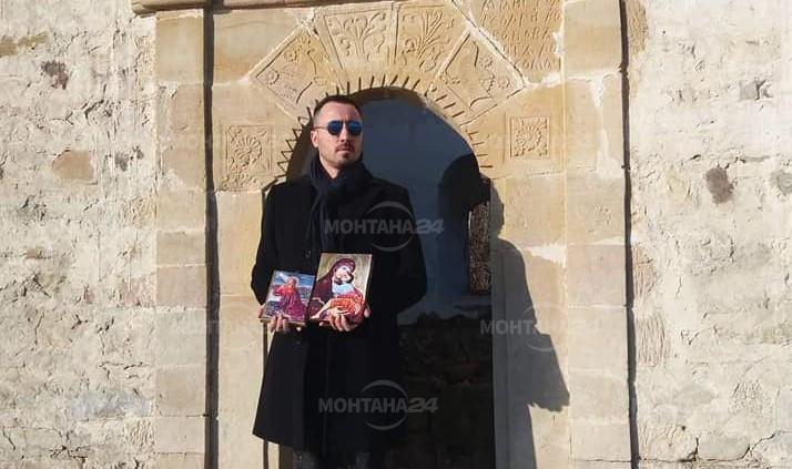 """Две нови икони поставиха в рушащата се църква до язовир """"Огоста"""""""